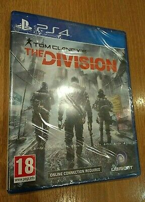 NEW & SEALED - Tom Clancy's The Division Sony PlayStation 4 PS4 Game - Ubisoft