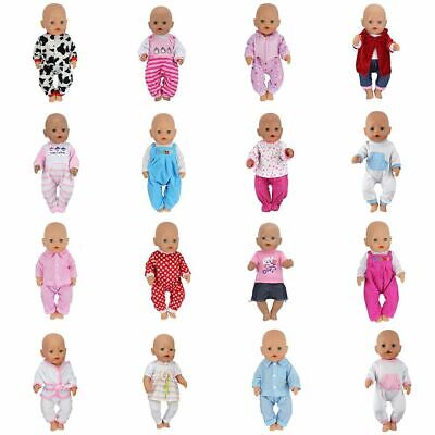 Doll Jump Suits Wear For 43cm Fit Zapf Baby Born Doll Reborn Clothes Dolls Set