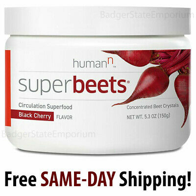 HumanN SuperBeets Black Cherry Circulation Super-Food Concentrate 30srv Exp 2021