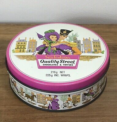 Vintage Quality Street Tin Mackintosh's Made In England Collectable Kitchenalia