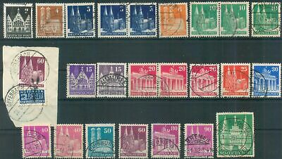Germany Allied Occ. Bizone 1948-1952 Mi various Buildings definitive stamps used