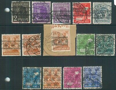 Germany Allied Occ. Bizone 1948 Mi various Currency Reform definitives used