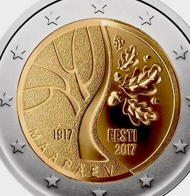Estonia 2 Euro Coin 2017 Commemorative Independence New UNC from Roll Tree