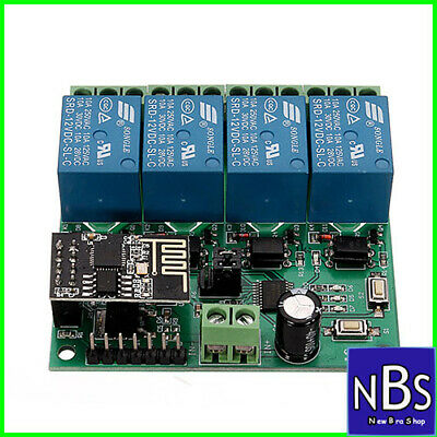 DC12V ESP8266 Four Channel Wifi Relay IOT Smart Home Phone APP
