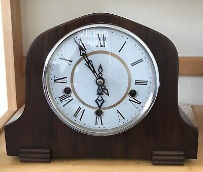Smiths Enfield 8 Day Westminster Striking 3 Train Mantel Clock