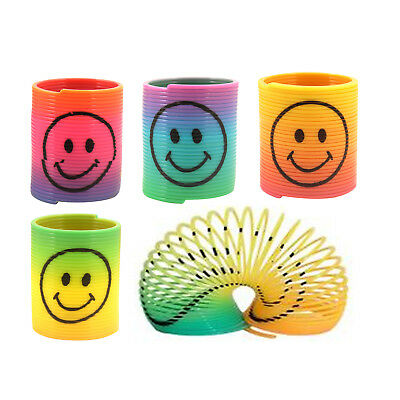 Mini Slinky Spring Smile Face - Rainbow Pinata Wedding - Party Bag Filler Toy