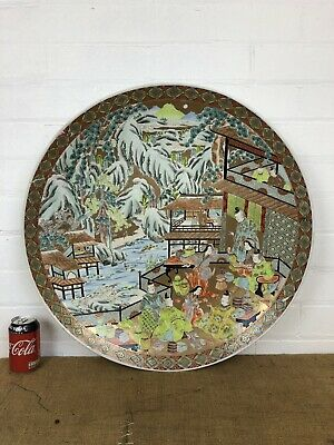 """Magnificent Japanese Chinese Chenghua Style Antique Meiji Charger Plate 24"""""""