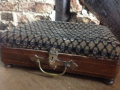 Beautiful Vintage Old Antique French Wooden Box Brass Embellishments Gorgeous