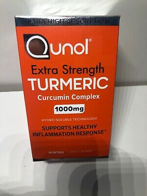 Qunol Extra Strength Turmeric Curcumin 1000 mg - 60 Softgel Exp 05/2021