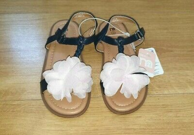 Mothercare Girls Sandals size 11 with Pink Flower Kids Girl's Gorgeous Shoes NEW