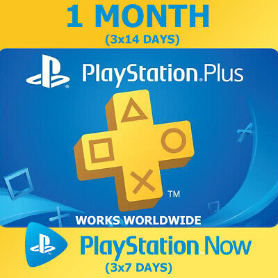 PLAYSTATION PS PLUS 1 Month (3x14) 42 Days PS4 Ps Now (3x7) INSTANT DELIVERY