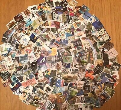 200 GB Commemorative Stamps Off Paper, Kiloware, All Different FREE POSTAGE