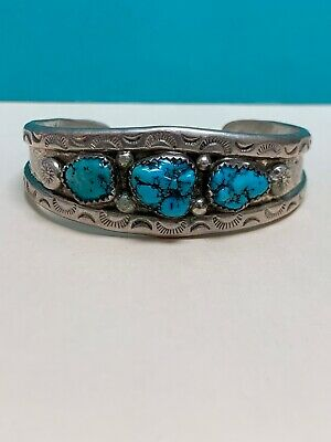"""SOUTH WESTERN NATIVE AMERICAN ETHNIC TRIBAL Turquoise OffWhite Women BRACELET 7/"""""""