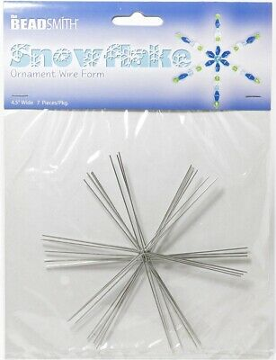 Beadsmith 4.5 Wire Snowflake Bead Forms 0.8mm 7 Frames