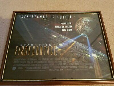 """Star Trek """"First Contact"""" Poster in Frame"""