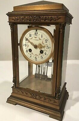 Antique S Marti French Regulator Clock w/Mappin & Webb Dial France Works/Chimes