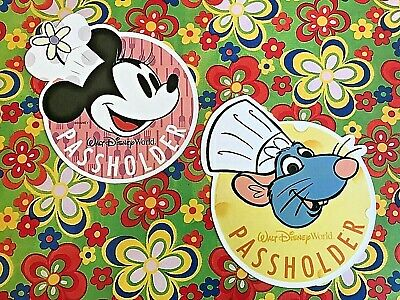 Disney World Annual Passholder REMY & MINNIE DECALS Food Wine Festival EPCOT