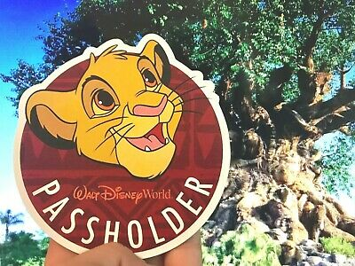Disney World Annual Passholder Simba DECAL Lion King Cub Animal Kingdom Souvenir