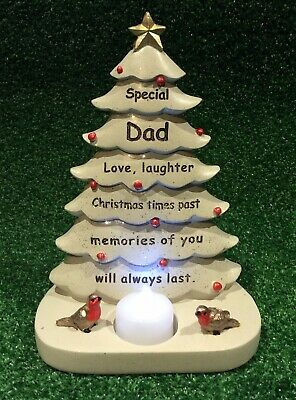 Dad Christmas Tree, Grave Memorial Ornament, Graveside Cemetery Remembrance Gift