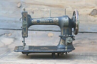 Functional Late 1800s Vintage White Treadle Sewing Machine Body