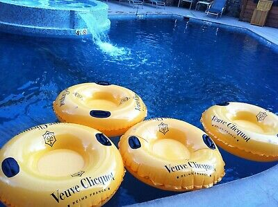 Authentic Veuve Clicquot VCP Signature Yellow Champagne POOL FLOAT ULTRA RARE