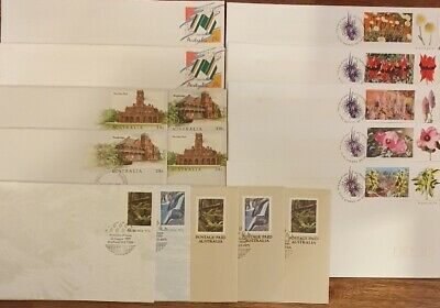 AU - Prepaid 16x FIRST DAY of ISSUE Stamped Envelopes - 39c, 41c & 45c STAMPS