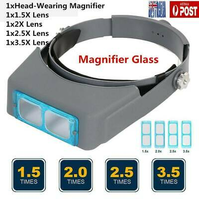 2019 Headband Magnifier Head Magnifier Hands Free Magnifying Glass Optivisor AU