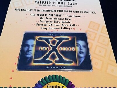 The X-Files Vintage 1995   $10 Prepaid Phone Card New/Sealed  FREE SHIPPING!