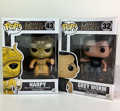 Funko POP! Game of Thrones Grey Worm #32 and Harpy #43 SEE PICS LOT of 2
