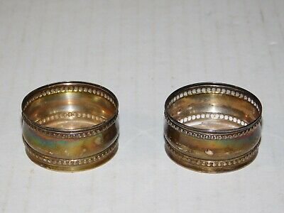 Pair Antique 1931 Dutch Sterling Silver 925 Lip Balm Perfume Holder Container