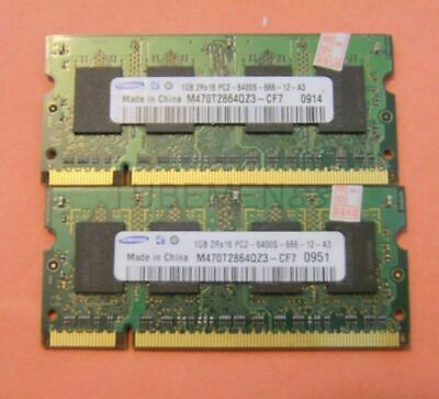 1 pic Notebook For Samsung PC-6400 1GB SO-DIMM MEMORY 200-pin DDR2 800MHz SLING