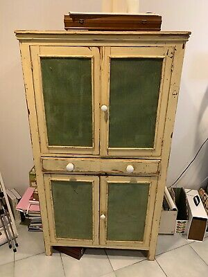 Vintage meat safe - lovingly restored and in excellent condition 86x55x142