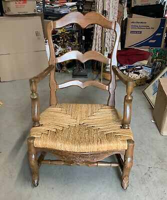Woven Cane Chair Vintage Antique Italy ?