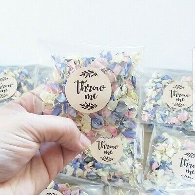 Wedding Confetti Pack - Biodegradable Natural Petal - READY TO USE