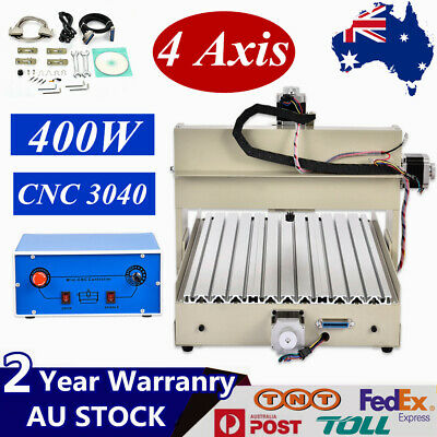 4 Axis CNC 3040 Router Engraving Machine Drill milling metal Cutter Desktop 400W