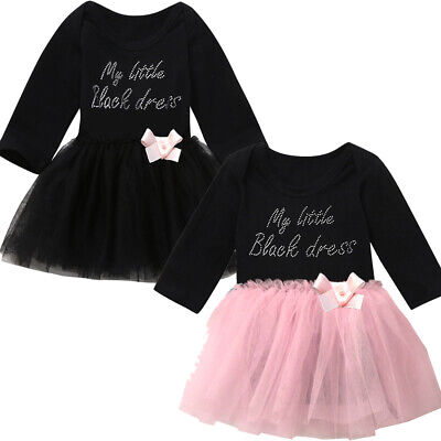 Newborn Infant Baby Girl Tutu Romper Tulle Bow Dress Bodysuit Outfits Clothes
