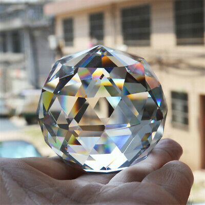 Photography Props Faceted Crystal Ball Feng Shui Glass Ball For Home Decor