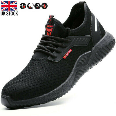UK Safety Shoes for Men Women Sports Steel Toe Trainers Lightweight Work Shoes