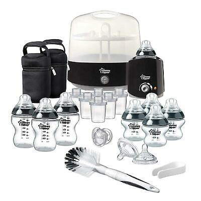 Newborn Baby Bottle Set Steriliser & Feeding Full Starter Kit Anti Colic BLACK