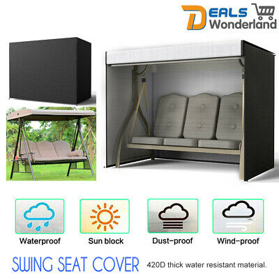 Outdoor Swing Chair Hammock 3 Seater Garden Canopy Bench Seat Cover Protector
