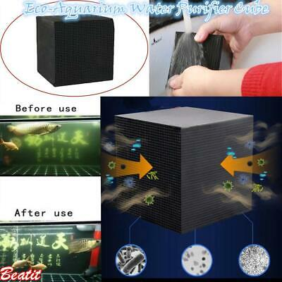 Square Eco-Aquarium Water Purifier Filter Cube Fish Tank Cleaning Activated Box