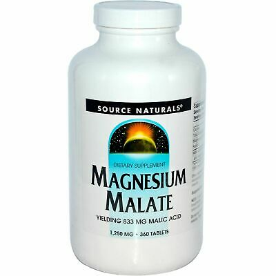 Source Naturals, Magnesium Malate, Muskeln, 1250mg, 360 Tabletten, Blitzversand