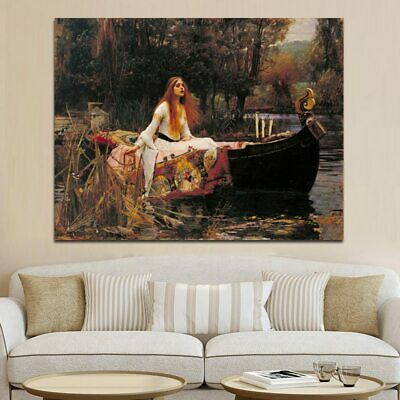 The Lady of Shalott Women Portrait Canvas Painting Vintga Posters and Prints