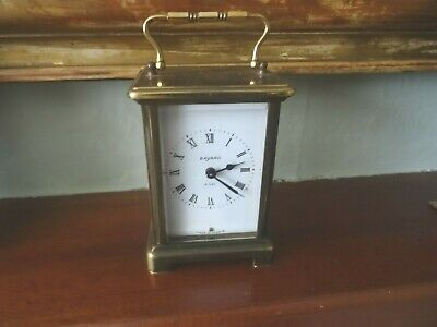 Antique Bayard 8 Day Brass Carriage Clock 9J Duverdrey & Bloquel France Working