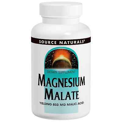 Source Naturals, Magnesium Malate, Muskeln, 1250mg, 90 Tabletten, Blitzversand
