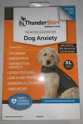 THUNDERSHIRT Dog Anxiety Calm Shirt/Jacket Heather Gray, XL - NOB