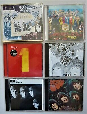 Collection Of 6 Beatles Cds Inc Anthology No 1 And Sgt Pepper