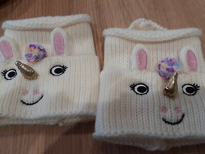NEW KIDS CUTE KNITTED BOOT TOPPERS LEG WARMERS UNICORNS by CUPCAKES & CARTWHEELS