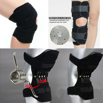 UK Power Lift Joint Support Knee Brace Double-Hinged Support Open Patella Brace