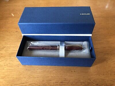 Sailor 1911 Young Fountain Pen Red GT M Nib New